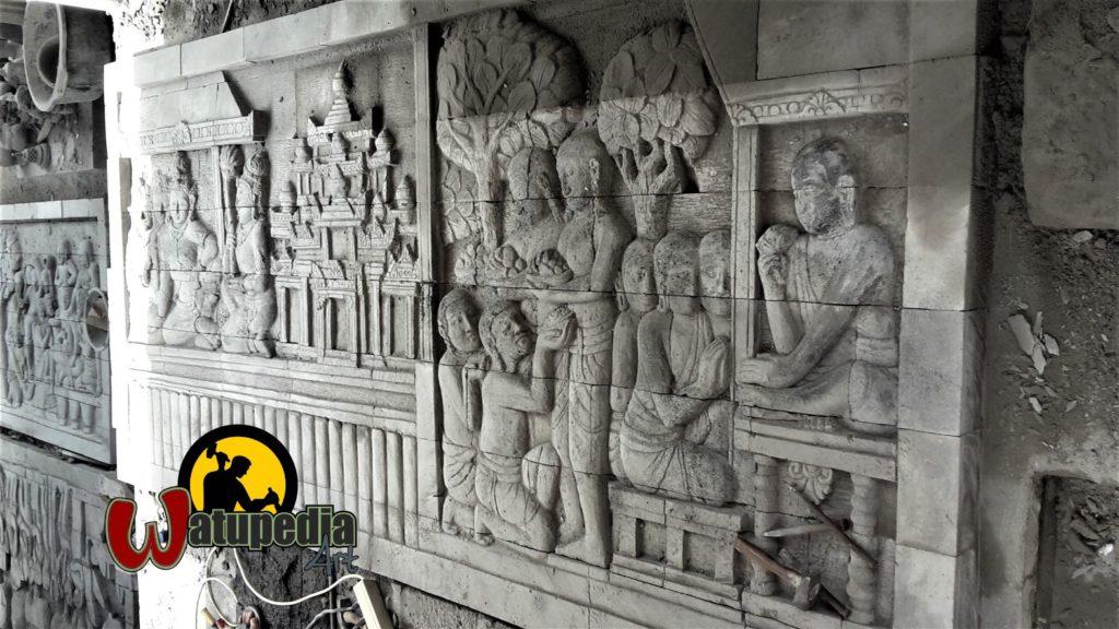 Kami menerima pesanan pembuatan Replika relief dinding lorong Candi Borobudur.