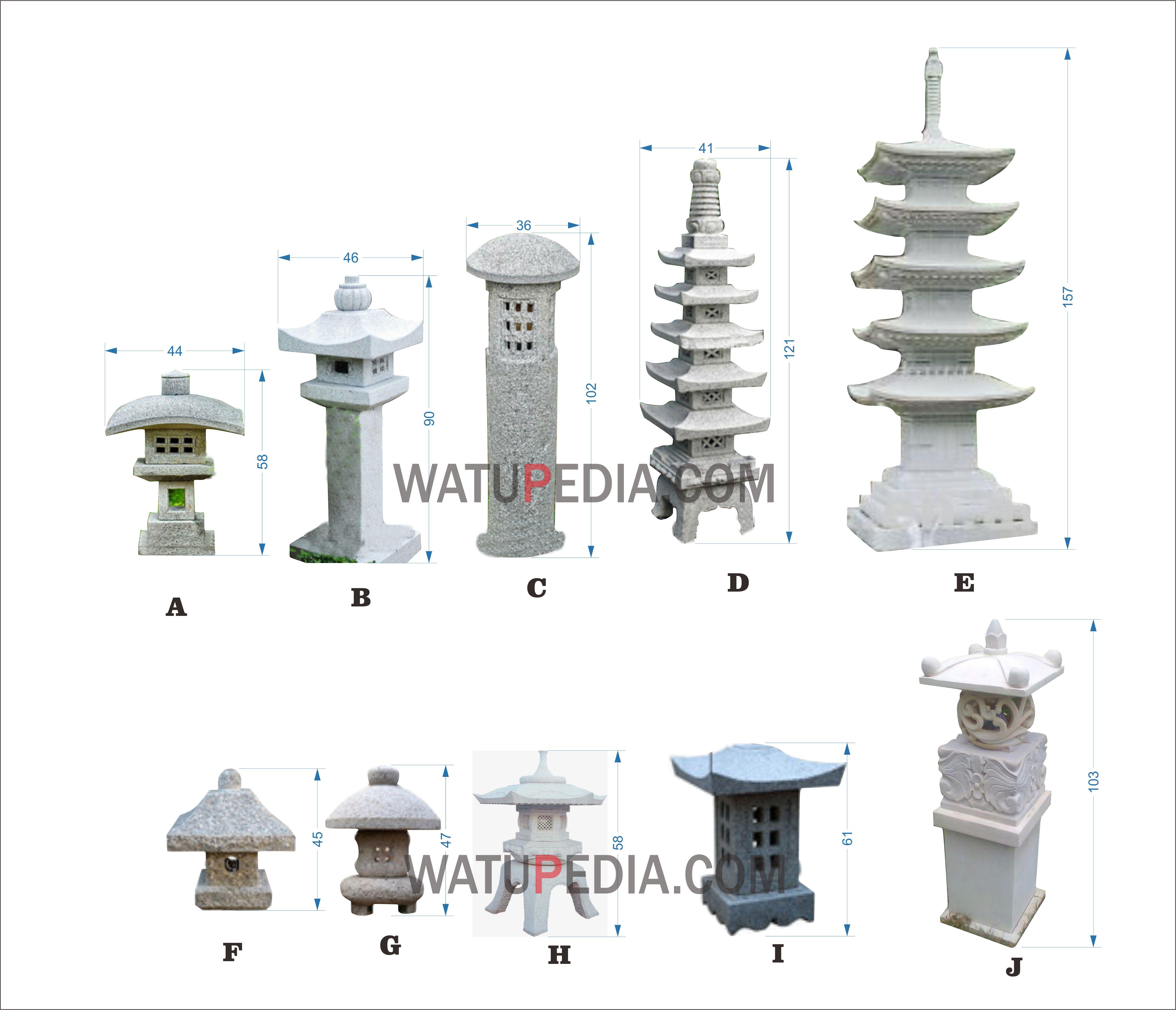 Lampu Taman Batu Candi Watupedia Stone Art