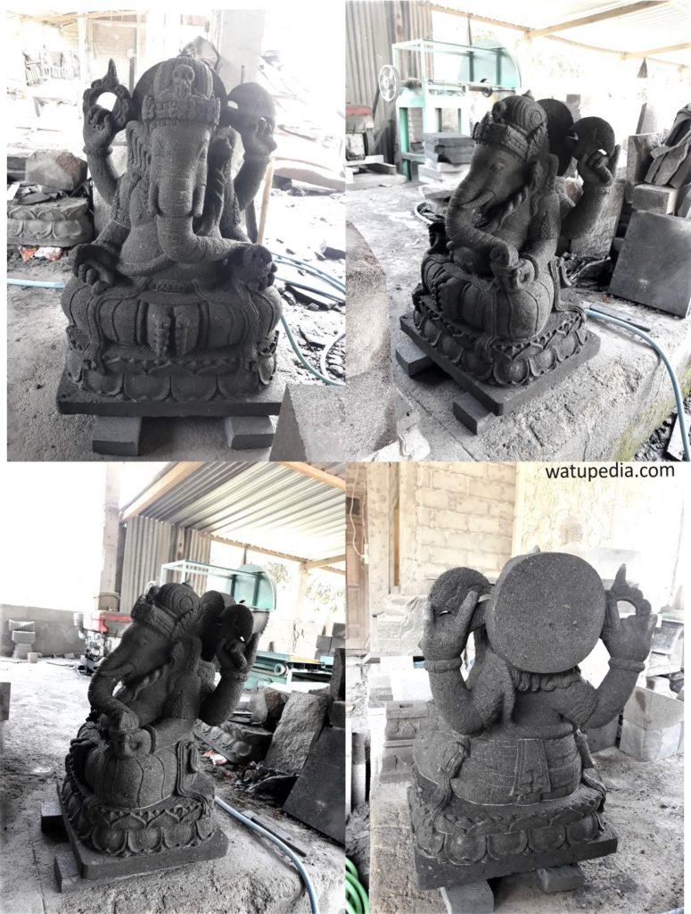 Patung Ganesha batu candi dari muntilan sudah terkenal dan sangat populer. Patung Ganesha batu candi ini terbuat dari batu candi solid bukan semen atau cor-coran.